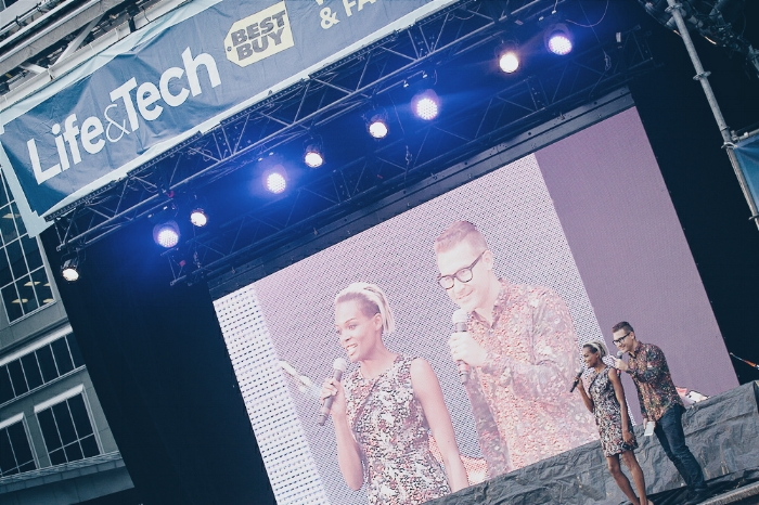 With Tom Elmrich co-hosting the Best Buy Life & Tech Fashion Show