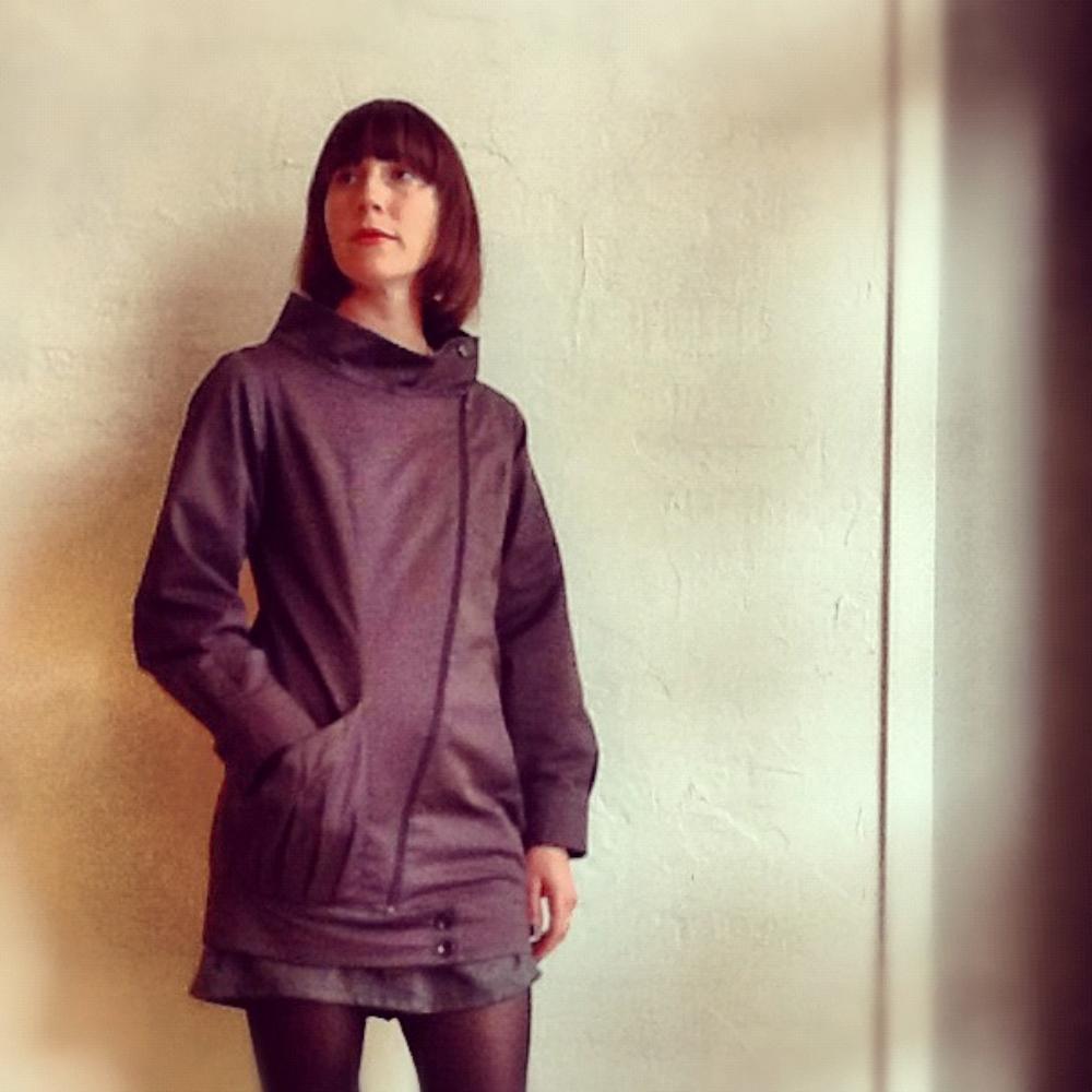 Akemi Okamoto asymmetrical zipper jacket $288