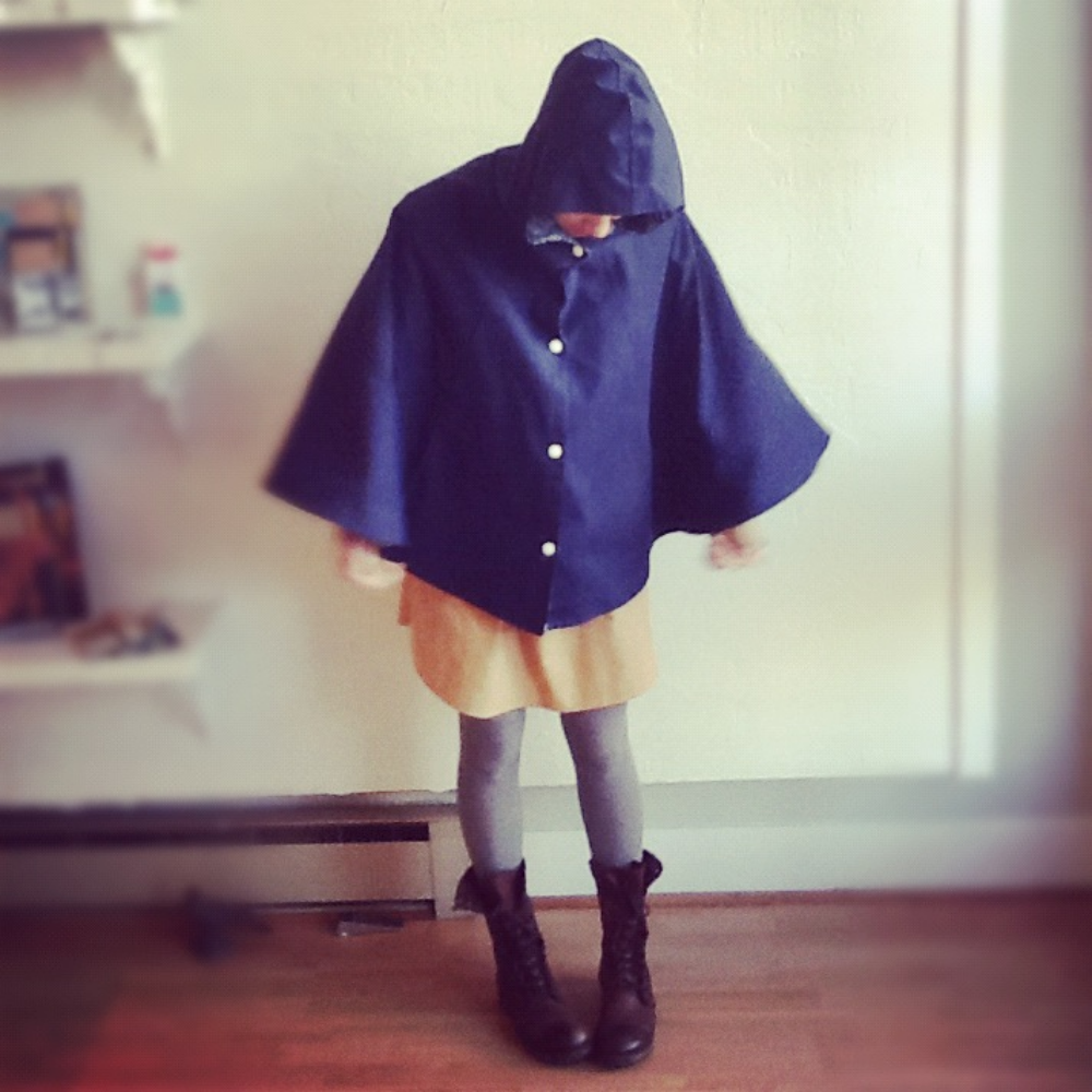 Nooworks   waxed canvas poncho $148