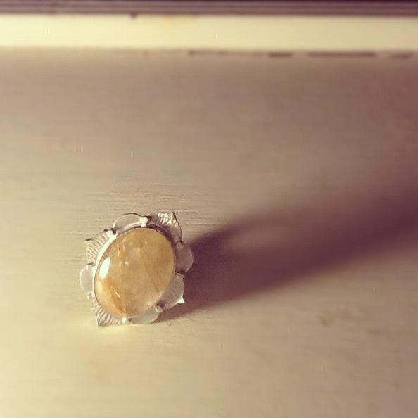 Dorothy Cheng Rutilated Quartz Ring $240