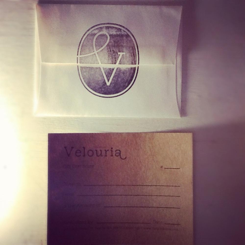 Velouria Gift Certificates