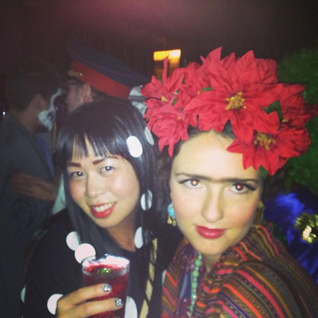 Yayoi Kusama (Jean) & Frida Khalo (Chelsea) have me reconsidering my eyebrow grooming strategy.