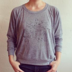 Nooworks  kitten print pullover, $45