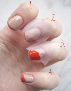 nail tutorial via   BirchBox Blog