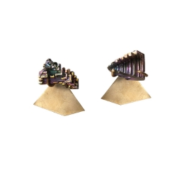 Aoko Su Bismuth Kawahori Earrings, $175 at Velouria