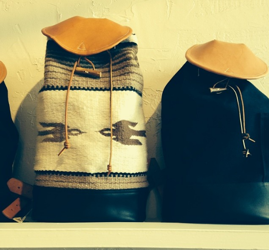 Ferdinand's Supply Company backpacks and Single strap bags, soaking up the winter sunshine.