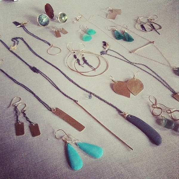 Jules Accessory Design  restocked us with her lovely pieces and some  very  tempting rings.