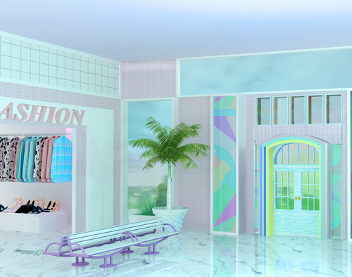 "Neon Saltwater, ""Mall Feelings"" 2016"