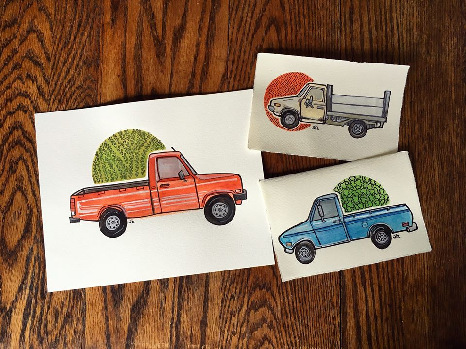 Truck Portraits by Amy Huber