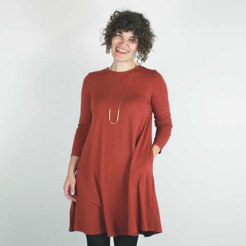 Katie Dress In Rust Velouria