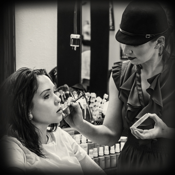 Makeup Application    Daily/Beauty Makeup takes an average of 15-30 minutes, Specialty/Formal Makeup takes an average of 30-60 minutes, and costume makeup takes an average of 30-90 minutes depending on character.  I bring all products and tools needed to create look.