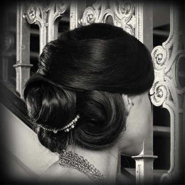 Specialty Styles/Updos    Updos take an average of 20-45 minutes, depending on the condition of the hair ahead of time and complexity of style.  I bring all tools and products needed to create the style.
