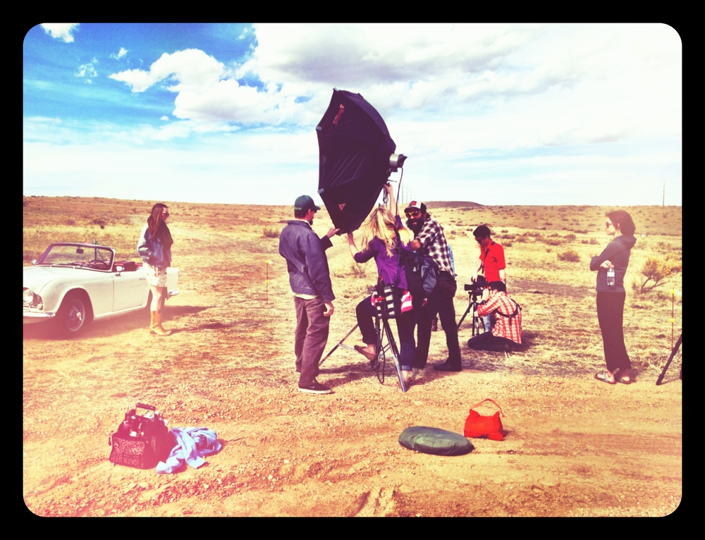 Takes an army to get the perfect shots... especially when it's windy.  Thanks to Josh & Nate for helping out!