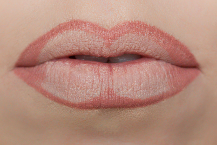 With the same lipliner, you are going to fill in the outer corners and the center of the lip.  This will create depth in your lips which in return add dimension hence making your lips look fuller.