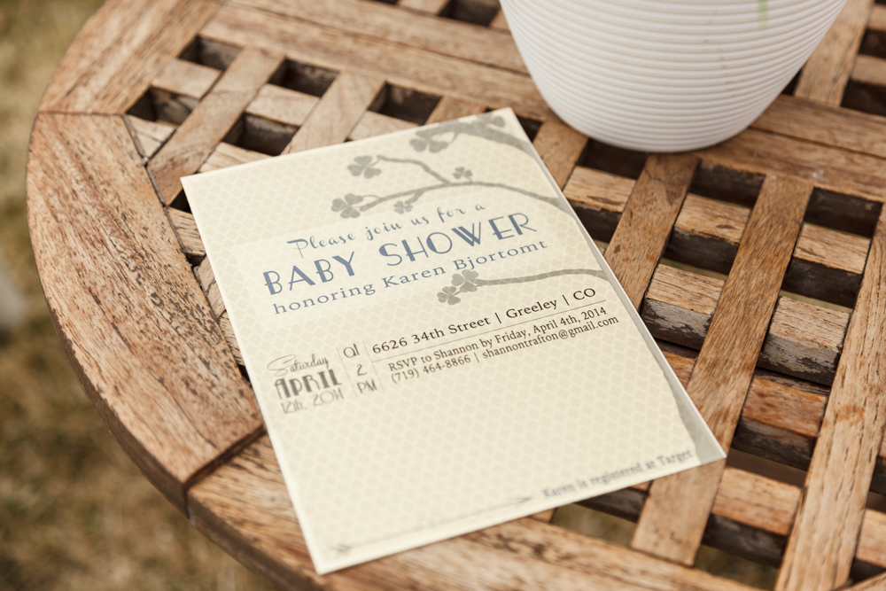 custom designed baby shower invitation {photography by Marcus Edwards}