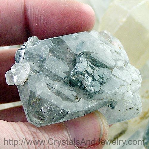Tibetan Black Quartz Elestial Crystal