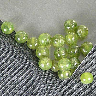 Green Grossular Garnet Beads Example