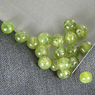 Green Grossular Garnet Beads Example
