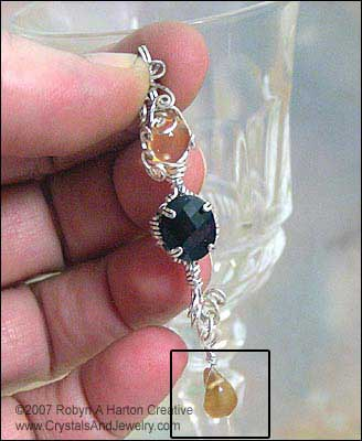 Hessionite Garnet Dangle on Pendant Example