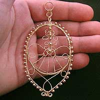 Gold Filled Wire Pendant