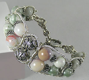 Bracelet Example with Ocean Jasper and Green Lotus Jasper