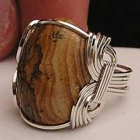 Picture Jasper Ring