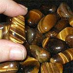 Golden (Brown) Tiger's Eye Tumble Example