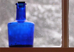 Cobalt bottle for gem elixir