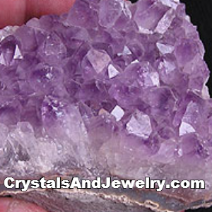 Amethyst is a stone associated with the third eye chakra.