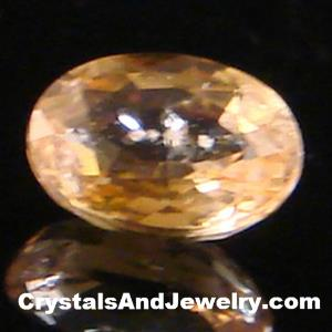 Example of a Faceted Yellow Sapphire