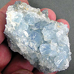 Celestite is one stone that is used in crystal healing for anxiety which is often associated with rosacea.