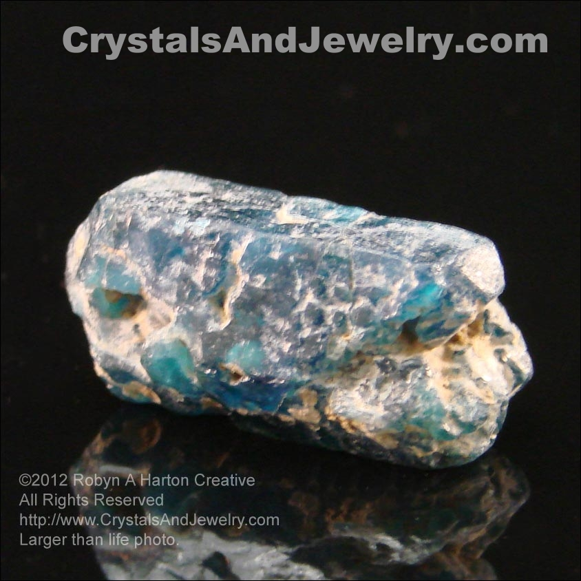Natural Blue Apatite Example