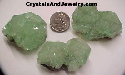 Green Apophyllite Crystal Examples