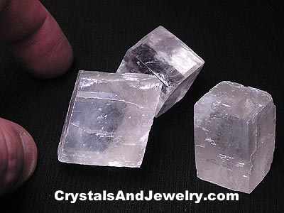 Example of Optical Calcite, also known as Iceland Spar.