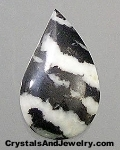 White and Black Zebra Stone often called Zebra Marble Example
