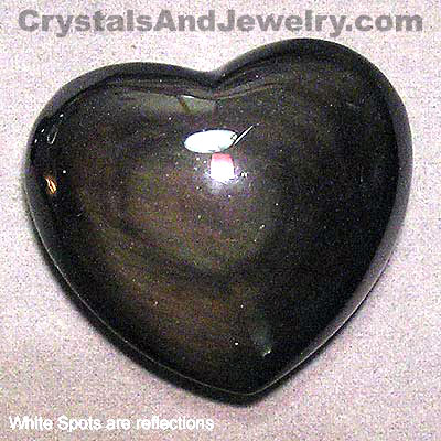 Rainbow Obsidian Heart Example