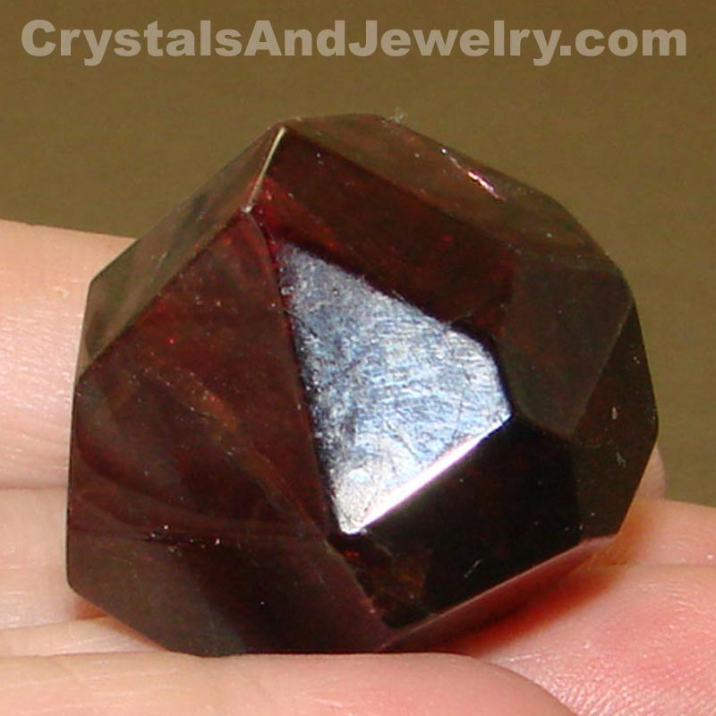 "Garnet is said to be the ""Stone of Health"" and can be used with this crystal grid."