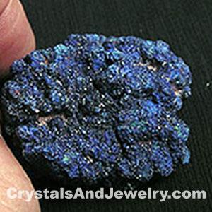 Azurite is an example ofdeep blue/indigo third eye chakra stone.