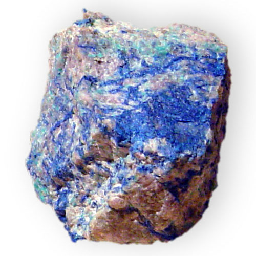 """Shattuckite Hydrous Copper Silicate Ajo Pima County Arizona 1584"" by Dave Dyet http://www.shutterstone.com http://www.dyet.com - Own work. Licensed under Public Domain via Wikimedia Commons"