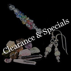 Get great bargains on CLEARANCE Handmade Energy Jewelry and Crystals.