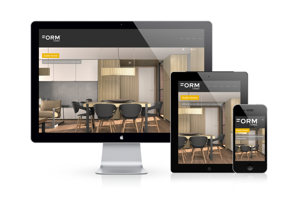 Form Homes responsive website design by BUILT
