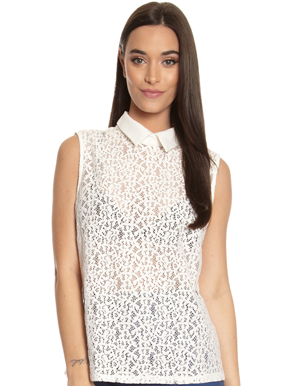 Glamorous Lace Peterpan Top, Glue Store, on SALE $40AUD