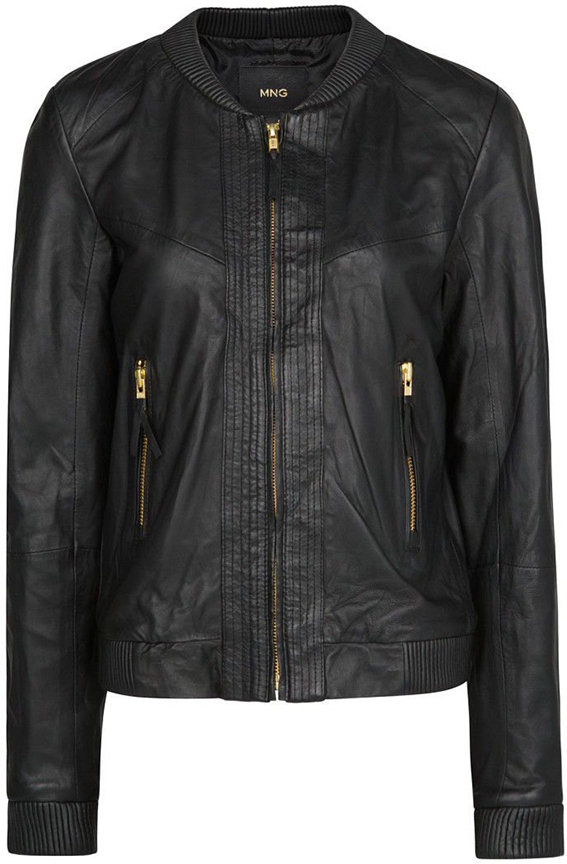 MANGO Leather Bomber Jacket, House of Fraser approx $203.16AUD