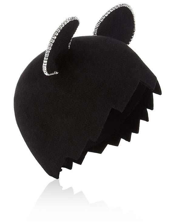 Marie Mercié Black Felt Minnie Hat, Avenue 32, approx $474.65AUD