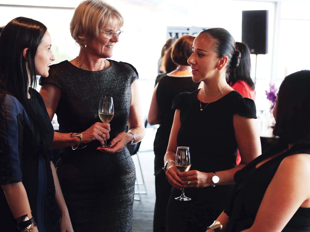 L to R: Kiri Yanchenko, Janna Taylor, Nadia Bayfield and Grace Bae, Georg Jensen Dinner Quay Restaurant, photo by Wesley Taylor