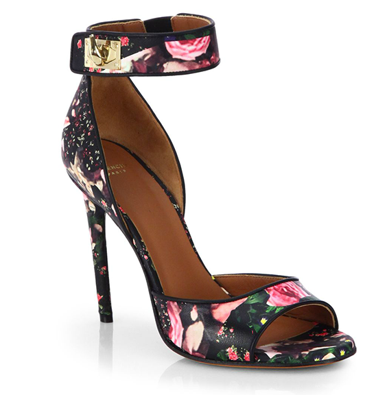 Givenchy Rose Camouflage-Print Leather Sandals, Saks Fifth Avenue, approx $1079.40AUD