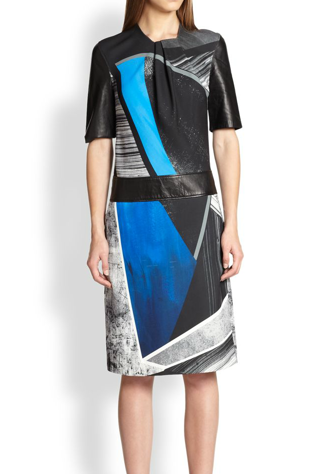 Helmut Lang Fracture Print Crepe Dress, Saks Fifth Avenue, approx $664.65AUD