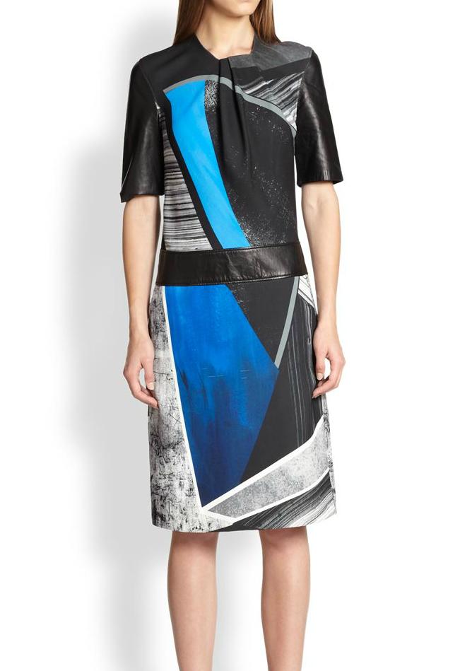Helmut Lang Fracture Print Crepe Dress, Saks Fifth Avenue, approx $664.65AUD