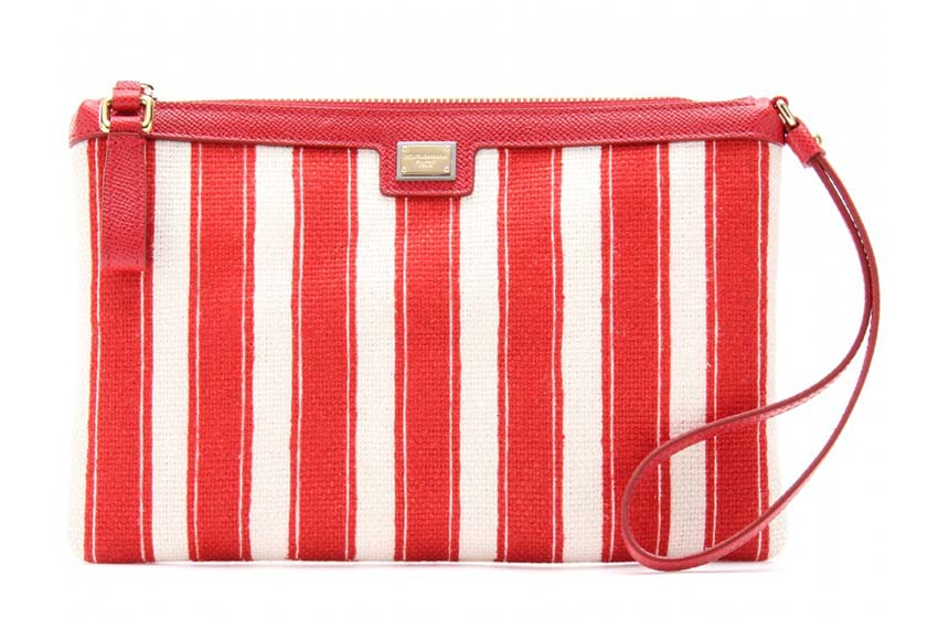 Dolce & Gabbana Cleo Striped Clutch, mytheresa,  approx $385.70AUD