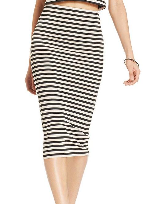 Bar III Striped Midi Pencil Skirt, Macy's, $68AUD